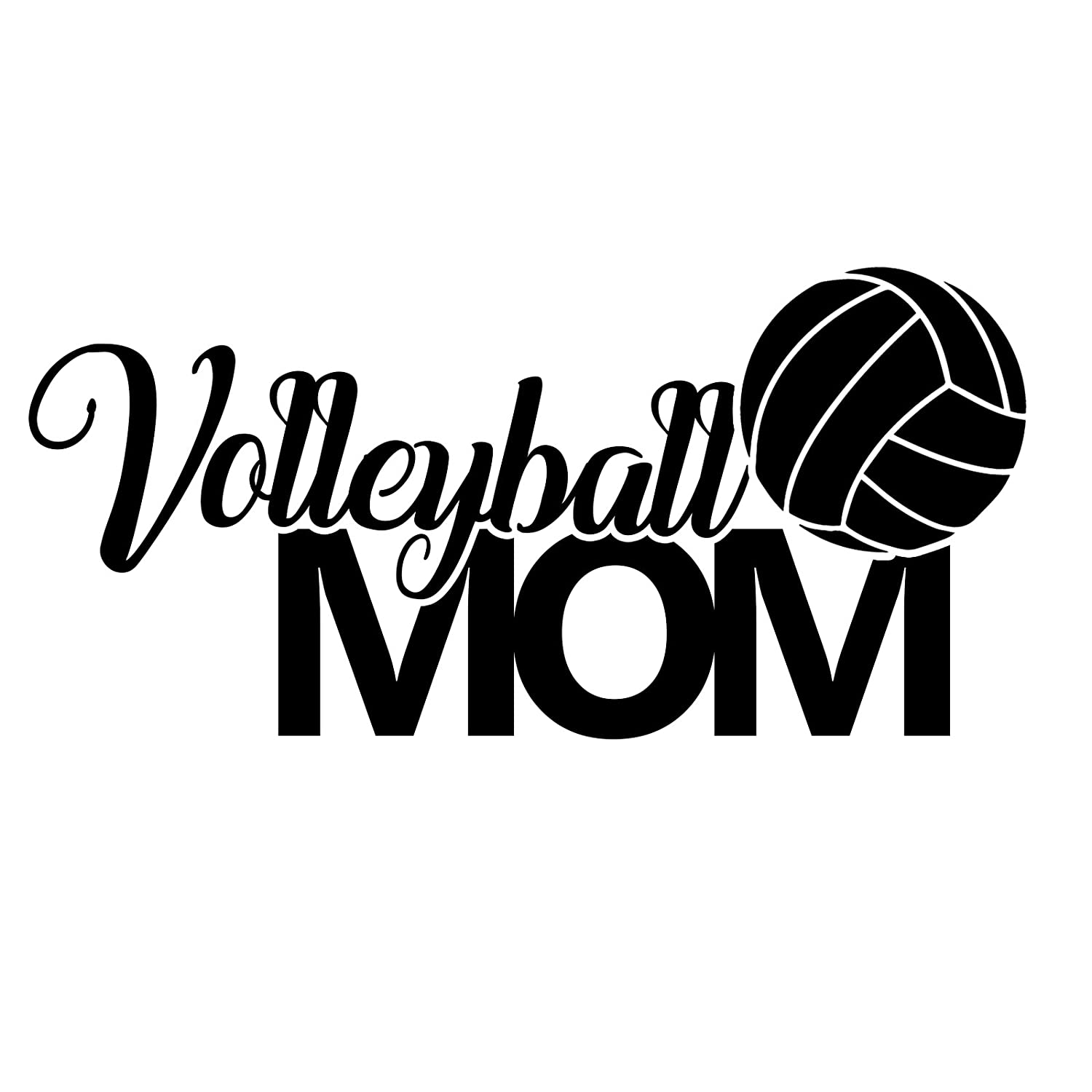 Volleyball Mom Sports Vinyl 6 Inch Decal