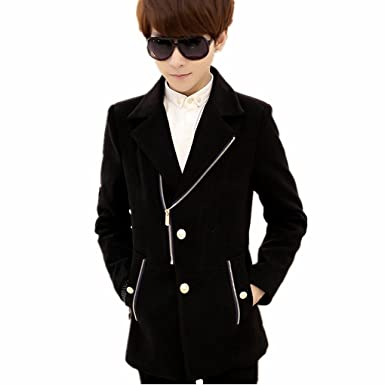 Men Cashmere Coat Fashion Wool Coat Men Chaquetas Doble Hombre Pea Coat