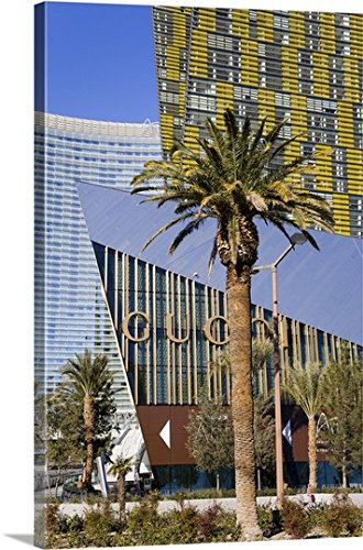 Canvas On Demand Premium Thick-Wrap Canvas Wall Art Print entitled Crystals Shopping Mall at CityCenter, Las Vegas, Nevada - Vegas Las Mall Premium