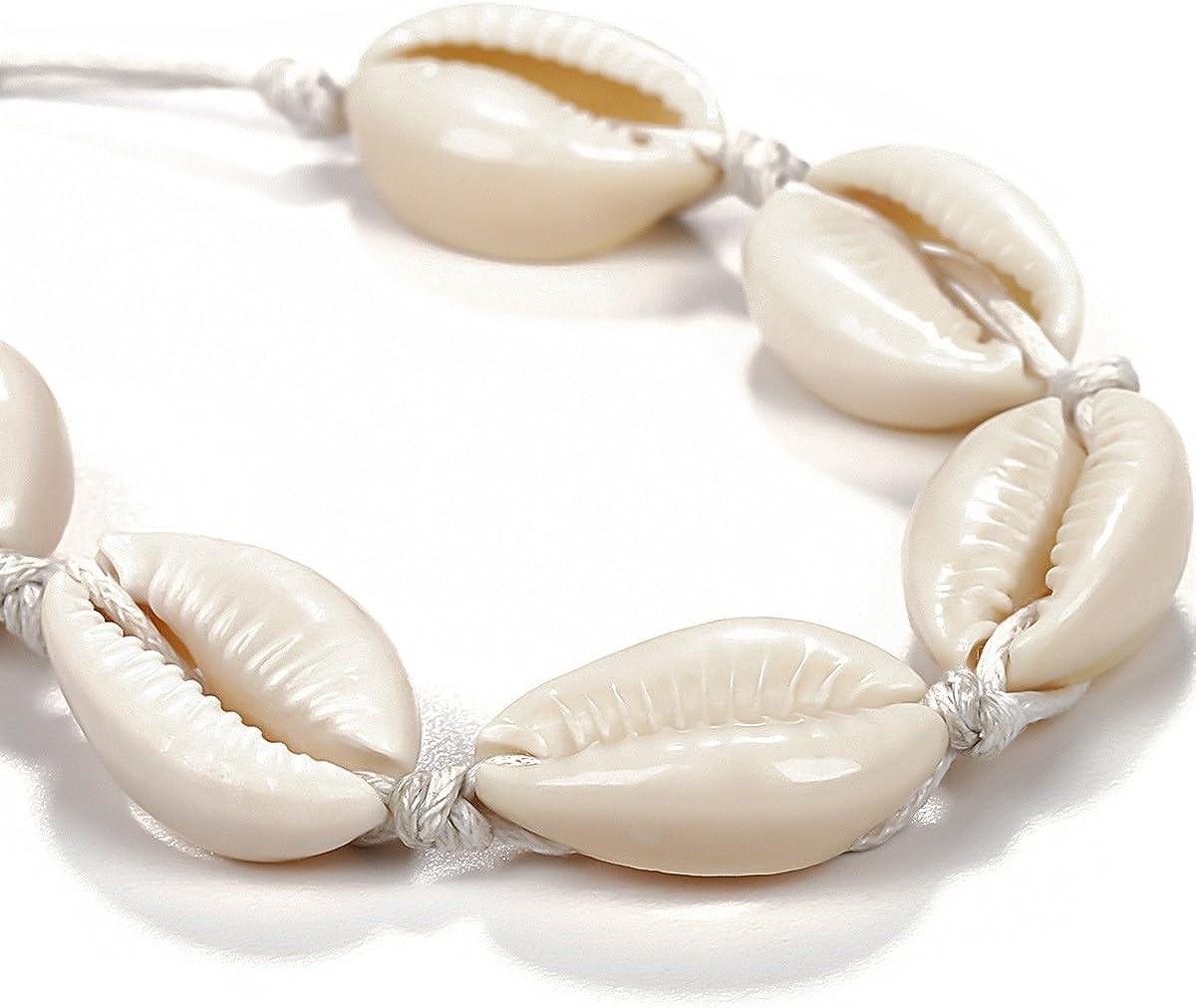 Summer Beach Natural Shell Main Hawa/ï Boho Lien Bracelets pour les femmes