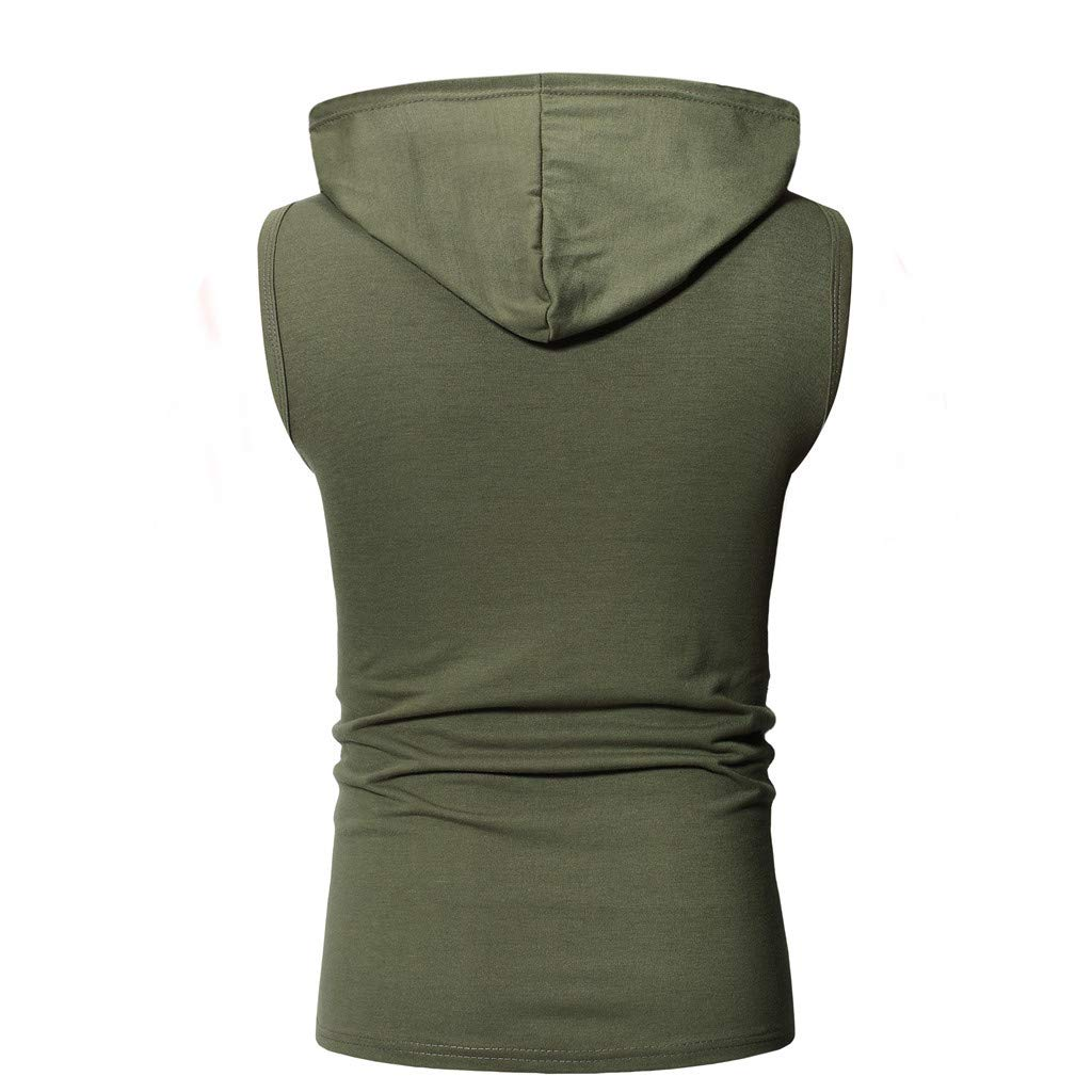 GzxtLTX Fashion Mens vest jacket Sport Casual Sleeveless Contrast Hoodie Top Blouse