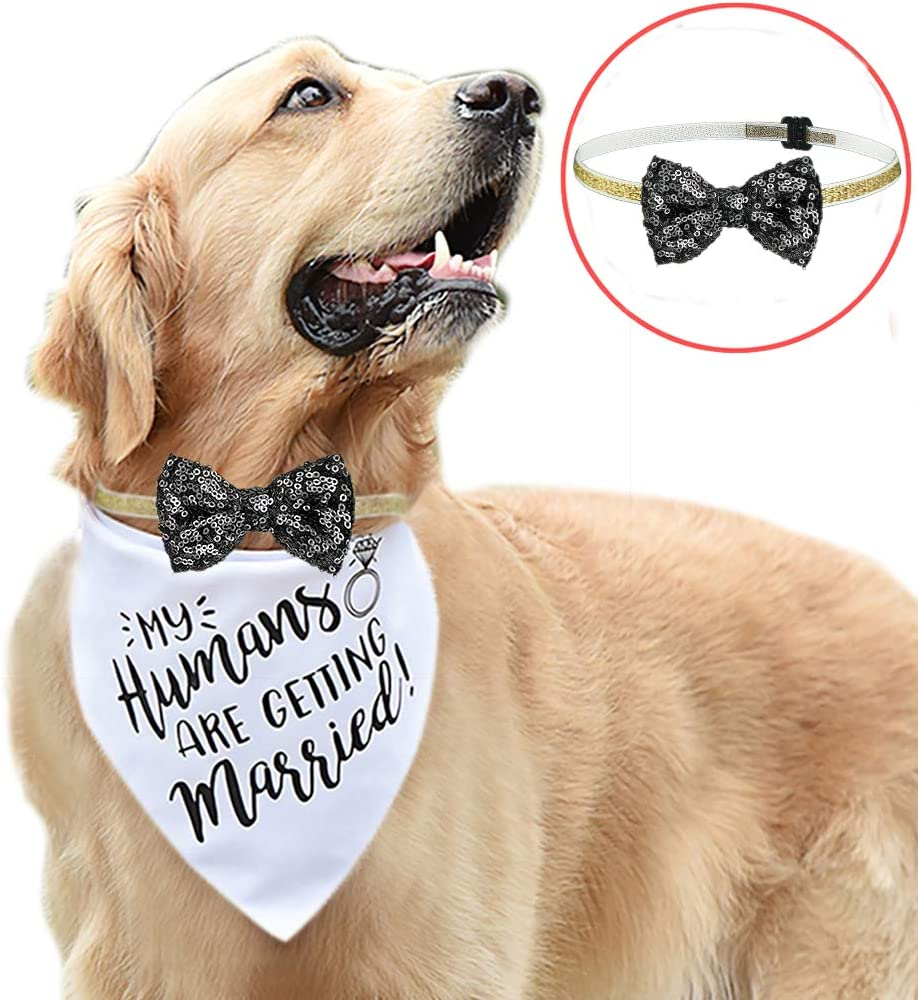 KEVIN-KW My Humans are Getting Married-Dog Bandana, Wedding Dog Bandana, Wedding Photo Prop, Dog Engagement Announcement,Bridesmaid Proposal,Bridesmaid,Pet Accessories