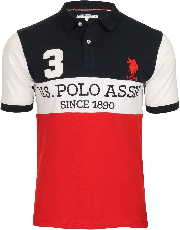 U.S Polo Assn. Camisa Polo para Hombre Champion Player Azul Azul ...