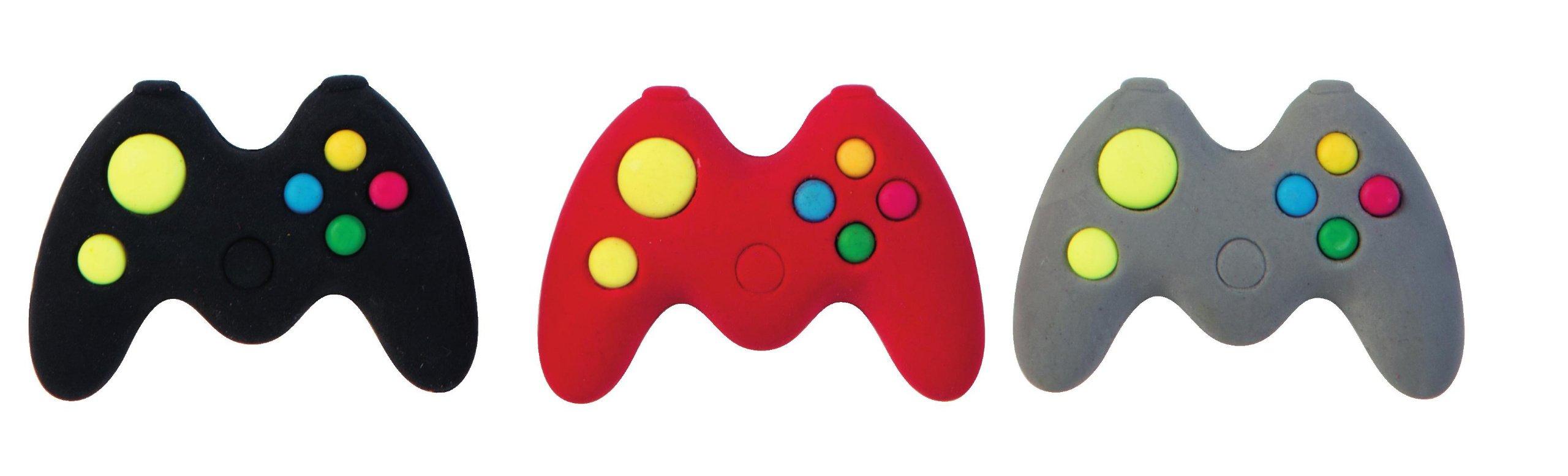 Raymond Geddes Game Controller Erasers, Set of 24 (69755)