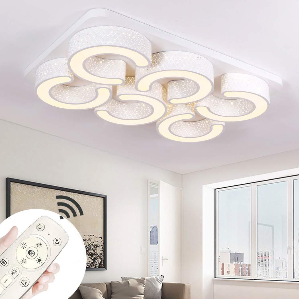YESDA LED Deckenlampe Kreative Deckenleuchte Lampe C-förmige Energiesparlampe für Flur Wohnzimmer Schlafzimmer Küche (Weiß-110W-Dimmbar)