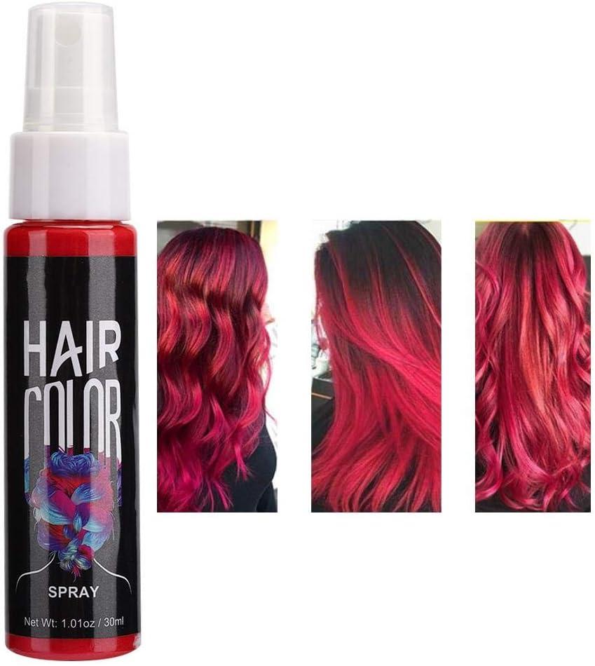 Tinte capilar temporal, Tinte para el cabello rojo, Spray ...