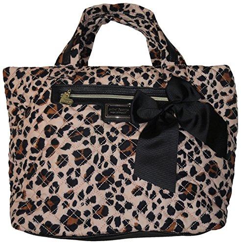Betsey Johnson Women's Nylon Tote Handbag, Leopard