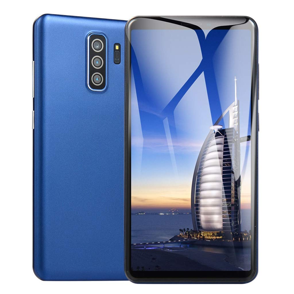 NDGDA New 5.8 inch Dual SIM Smartphone Android 6.0 Full Screen GSM/WCDMA Touch Screen WiFi Bluetooth GPS 3G Call Mobile Phone (Blue)