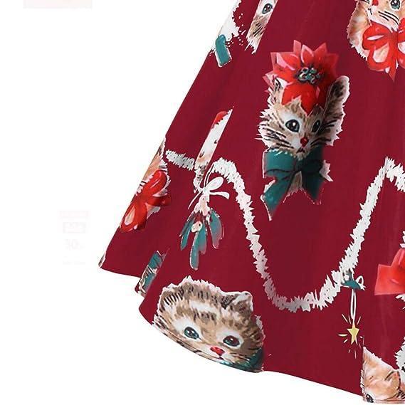 Vectry Rebajas Vestidos De Fiesta Vestido Casual De Navidad Vestido De Falda para Navidad Vestido Vintage Vestidos De Falda con Manga Larga Vestido Elegante ...