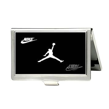 JUST DO IT Logo de Nike personalizado tarjetas de crédito cartera ID nombre de tarjeta caso: Amazon.es: Oficina y papelería