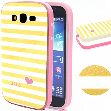 Silicone Case Cover for Samsung Galaxy Grand Neo Plus,URFEDA Suave Gel TPU Silicona 2in1 Cases Covers Ultra Slim Dibujos Carcasa Bumper Funda Bling ...