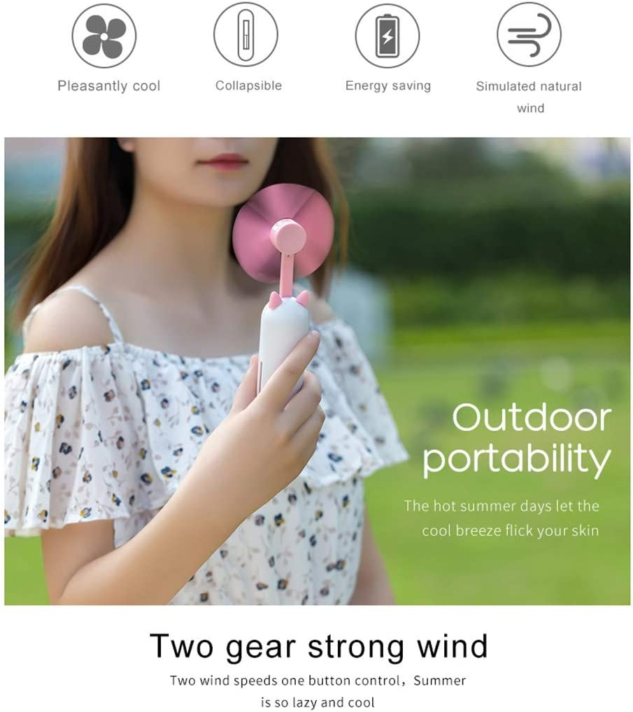 Coohole Mini Fan Handheld Portable Mist Spray Fan Air Water Bottle Cooling Misting USB Powered for Office Home Outdoor Travel