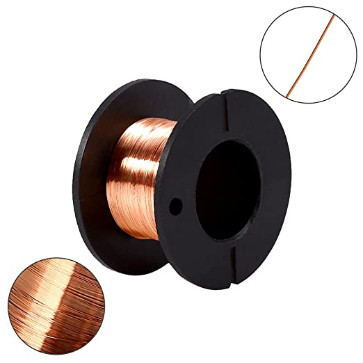 5 pieces 0,1mm Paint Wire Copper winding wire lacquered Repair Wire Length
