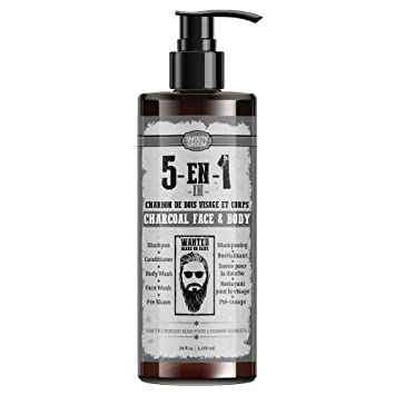 Amazon.com : Smooth Groom Charcoal Face & Body 5 in 1 - Shampoo ...