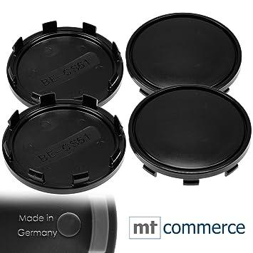 4 x 61 mm Buje tapas Llantas Tapa cojinetes de tapas Negro gewö LBT para Audi: Amazon.es: Coche y moto