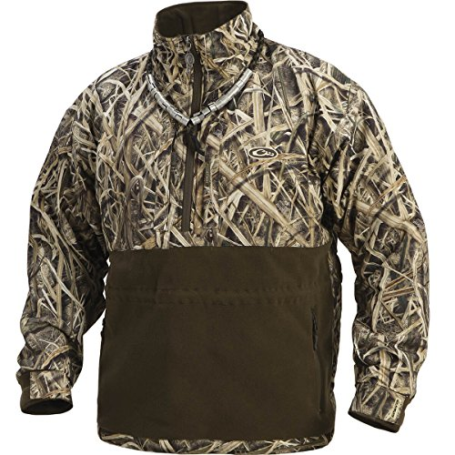 Drake Men's MST Eqwader Plus Quarter Zip Blades (Mossy Oak Shadow Grass Blades, XL)