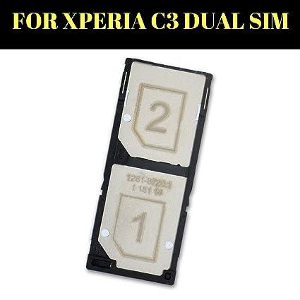 (HUKATO) Dual Sim Card Slot Tray Holder for Sony Xperia C3 (Multicolour)