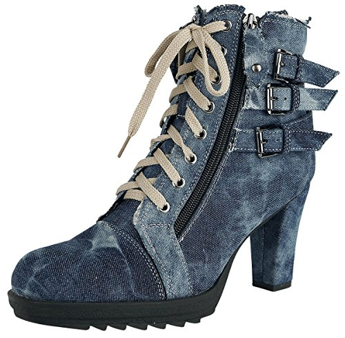 Rock High Ivy Rebel Heels blau by EMP zwrzOFq