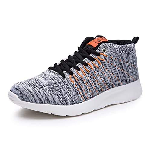 Largeshop Fitness Zapatillas Hombre High-Top Lace Up Zapatos Transpirables Caminar Ligero Gimnasio: Amazon.es: Zapatos y complementos