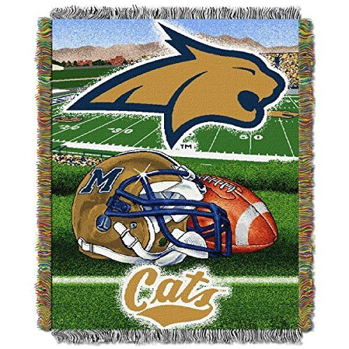 Northwest Tapestry Throw NCAA Team Montana State Blanket