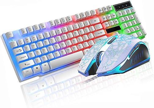 ALIZJJ Teclado ergonómico, Teclado, computadora, Mouse y ...
