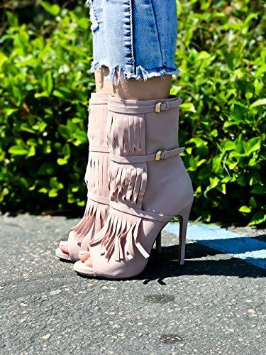 Lolli Couture Diamond Patent Letter Mary Jane Style Cinturino Fibbia A Punta Smussata Piattaforma A Spillo Tacchi A Spillo Nudo-billie