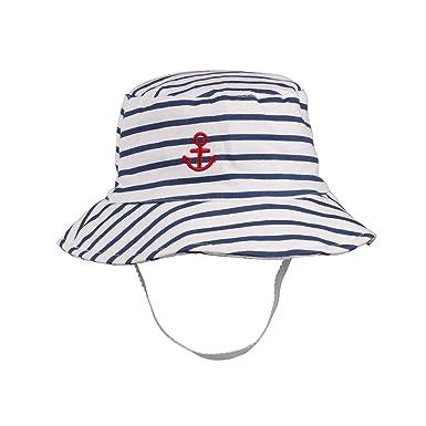 7a6e3427169 Baby Floppy Sun Hat Boy Bucket Hats Chin Strap Infant Toddler Kids Swim Sun  Protection Cap