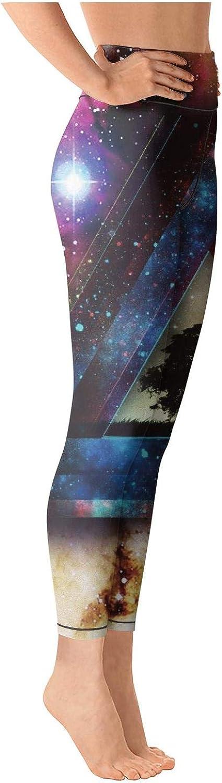 medssii Lady Yoga Pants Trippy Galaxy 3-01 Light Long Yoga Pants Yoga Leggings with Pockets
