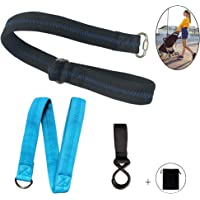Baby Stroller Safety Wrist Strap&Large Dog Leash, Black Wrist Strap with Blue Thread Sewing Adjustable Wrist and Double Layer Design, 2 Wristbands and 1 Hook