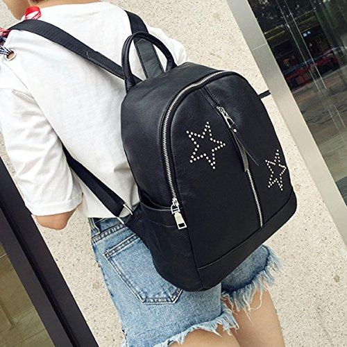 Backpack for Women - Bageek Black Backpack PU Leather Backpack Casual Backpack by Bageek (Image #5)