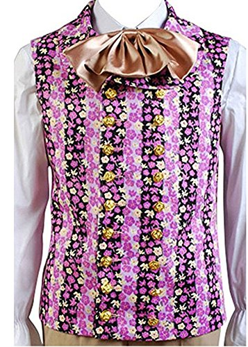 Willy Wonka and the Chocolate Factory Cosplay Costume Vest Only Small - Willy Wonka Costumes Violet
