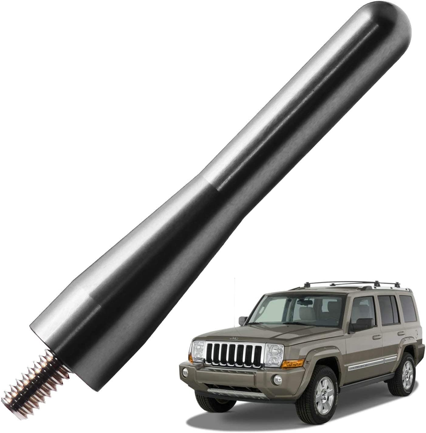 6.75 inches-Titanium JAPower Replacement Antenna Compatible with Dodge RAM Rebel 2015-2018