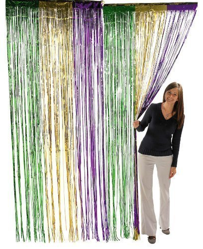 Fun Express Metallic Mardi Gras Fringe Curtains (2-Pack) for $<!--$14.93-->