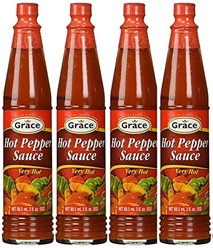 Grace Hot Pepper Sauce 3 FL Oz 4pk