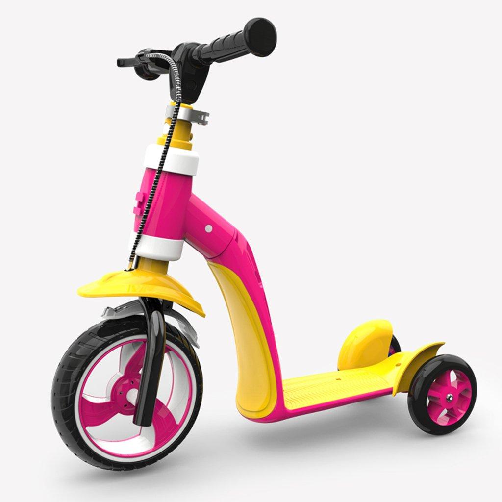 日本未入荷 スクーター折りたたみ式の子供の漫画多機能の乗り物の幼児の手のプッシュ3つのラウンドPUホイールは3-12歳に座ることができます B07FRV7BS9 Pink Pink B07FRV7BS9 Pink Pink, ホッチポッチ自由が丘 WEB shop:9df1fd09 --- a0267596.xsph.ru