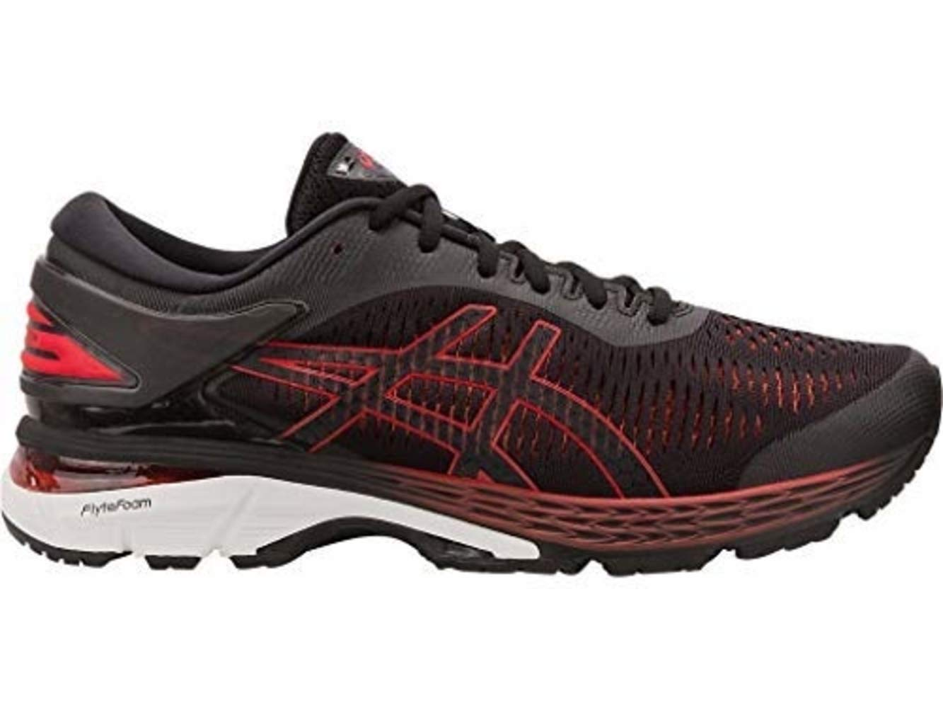 ASICS Gel-Kayano 25 Men's Running Shoe, Black/Classic Red, 13 D US