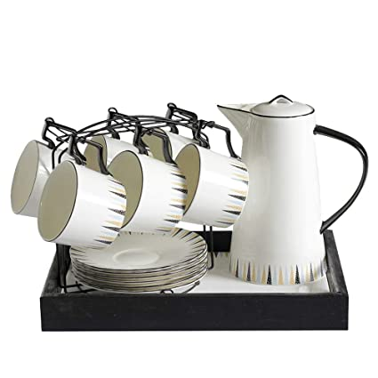 JGDGJKFB Taza de Cafe Juego de Tazas de café de Porcelana Europea Juego de té de
