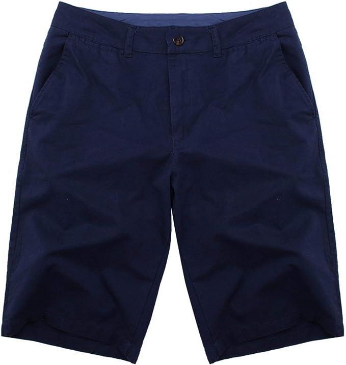 Bermudas masculinas de algodón hasta la rodilla para hombre ...