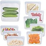 Bolsas de almacenamiento DEUS KITCHEN de silicona reutilizables libre de BPA, sello a prueba de fugas. Bolsa de almuerzo reut