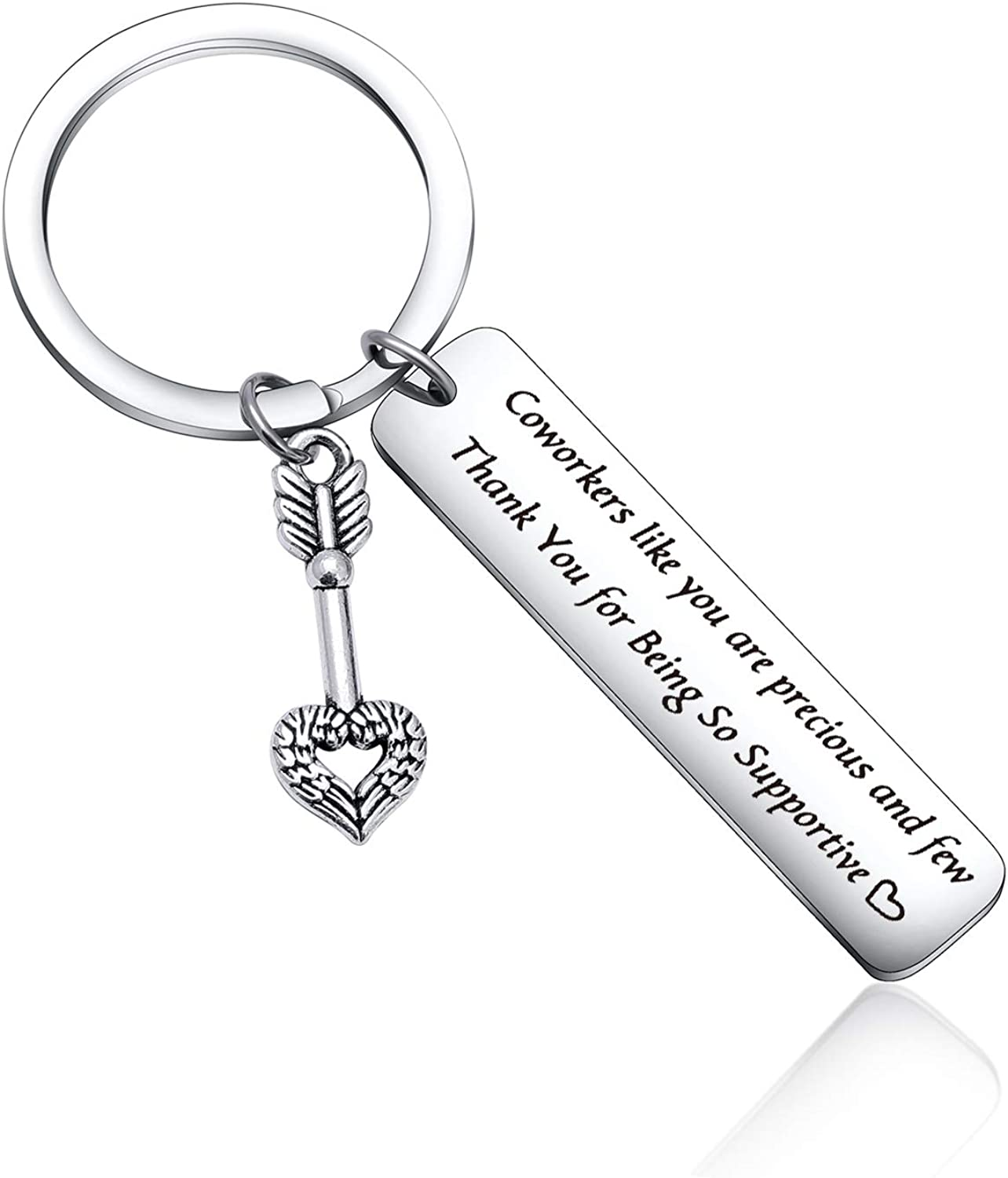 Appreciation Gift Thank You for Being So Supportive for Coworkers Friends Christmas Keychain Birthday Jewelry