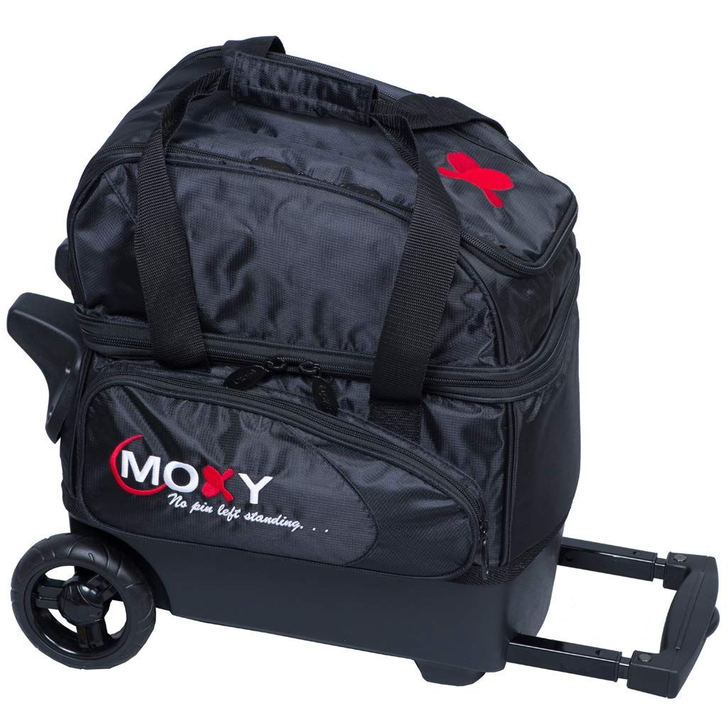 Moxy Duckpin デラックスローラーボーリングバッグ - ブラック B07MQP85QF