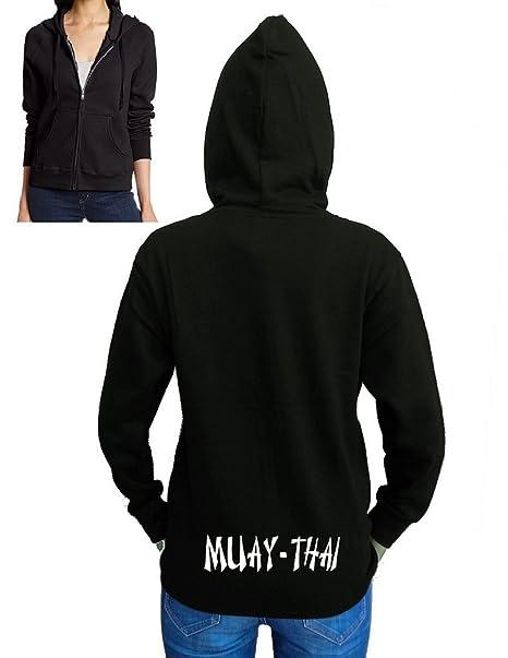 Womens Long Fleece Muay Thai Womens Pullover Sweatshirt Tops