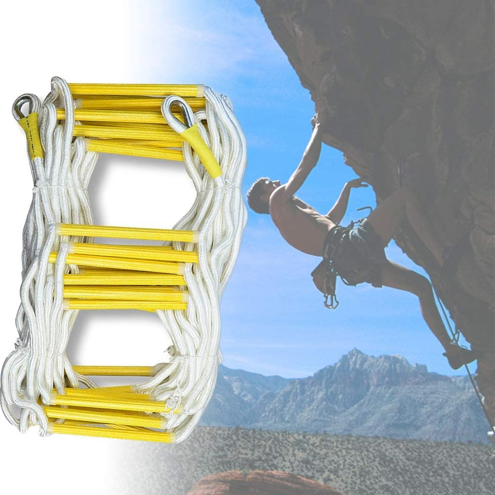 MAHFEI Escaleras De Evacuación, Escalera De Cuerda Escalera De Incendios Escalera De Seguridad De Emergencia con Accesorios De Montaje Apto for Adultos Niño Escalada De Roca: Amazon.es: Hogar