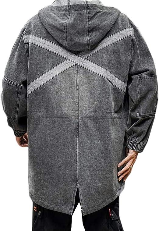 Gergeousデニムコート メンズ ゆったり ジャケット フード付き 裏起毛 ジージャン 防寒 カジュアル アウター デニム ストリート系 Gジャン 暖かい 大きいサイズ 秋 冬