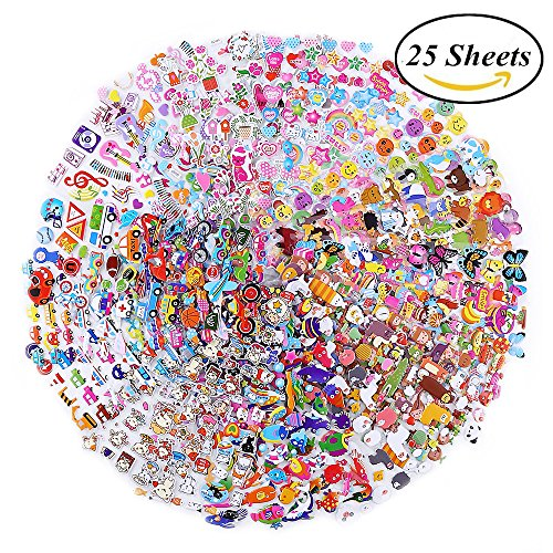 3D Puffy Stickers Kids Stickers  for Teacher, Students, kids