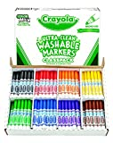 Crayola Bulk Markers, Ultra Clean, Broad Line, 200 Count Classpack, Washable