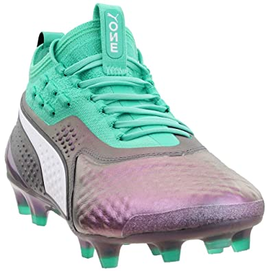c29d6b01 PUMA Mens One 1 Il Leather Firm Ground/Artificial Ground Soccer Athletic  Cleats,