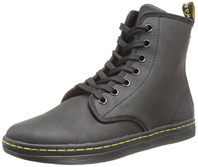 21a10ffb5 Dr. Martens Women's Shoreditch Black Greasy Lamper/Suede Boot UK 3 (US  Women's