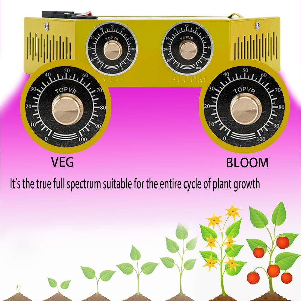 種子成長機- LEDグローランプ - デュアルチップ(10W)LEDグローランプ、環境にやさしい、低消費電力、高効率、植物の成長サイクル全体に適しています (色 : A) B07S8GM9NT A