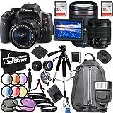 Canon EOS Rebel T6i DSLR Camera 18-55mm Lens Canon EF 24-105mm Lens Accessory Bundle International Model